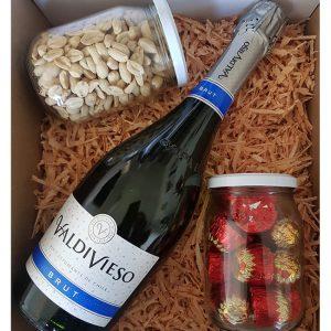 Caja de Regalo Vino Espumante Valdivieso 750c